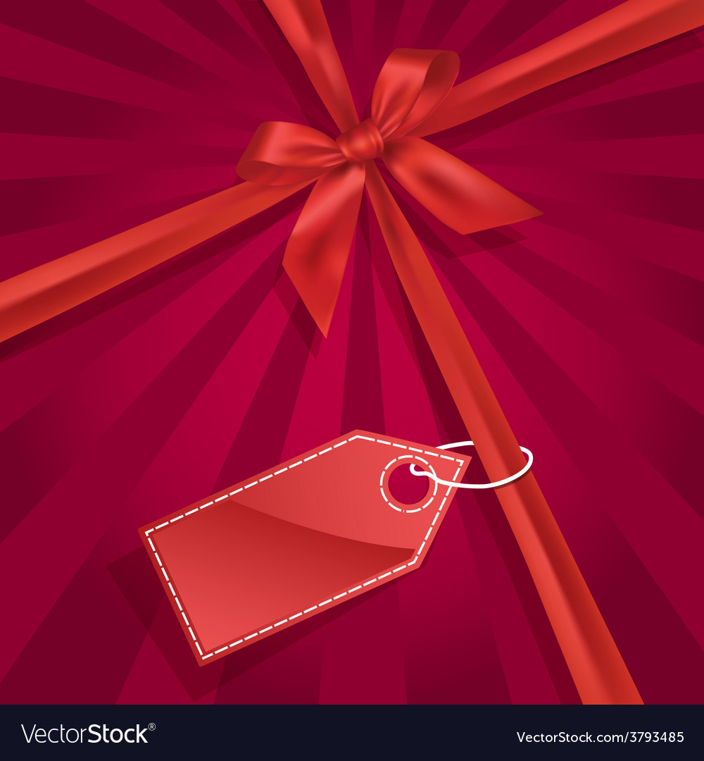 Gift bow with label vector | Price: 1 Credit (USD $1)