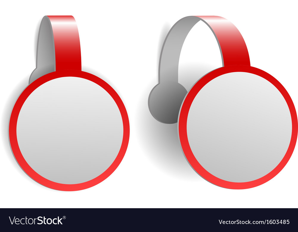 Red advertising wobblers vector | Price: 1 Credit (USD $1)