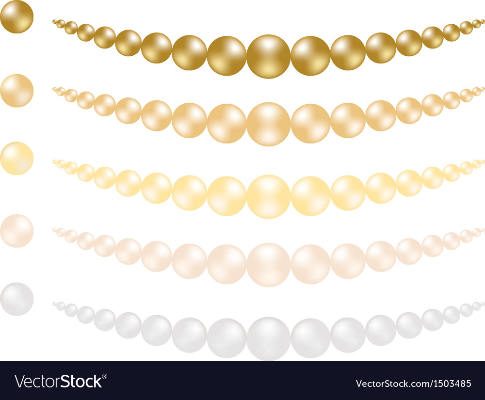 Set of pearls vector | Price: 1 Credit (USD $1)