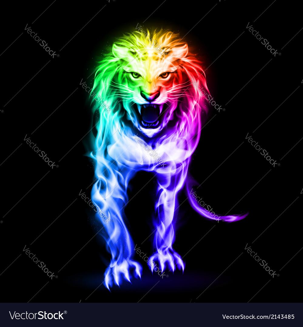 Spectrum fire lion vector   Price: 1 Credit (USD $1)