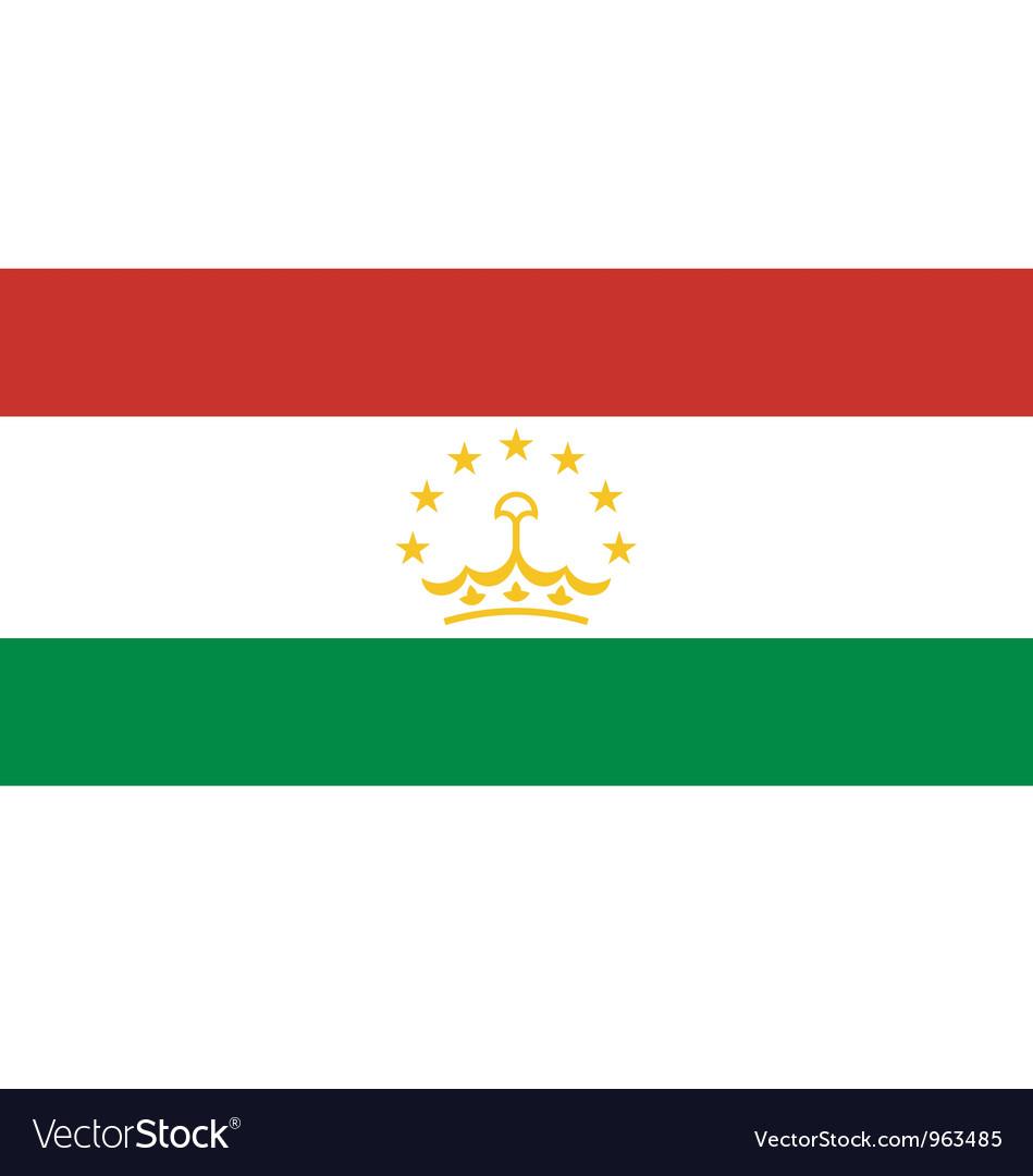 Tajikistan flag vector   Price: 1 Credit (USD $1)