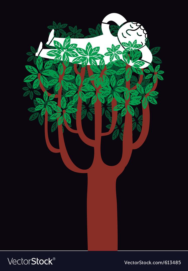 Tree nap vector | Price: 3 Credit (USD $3)