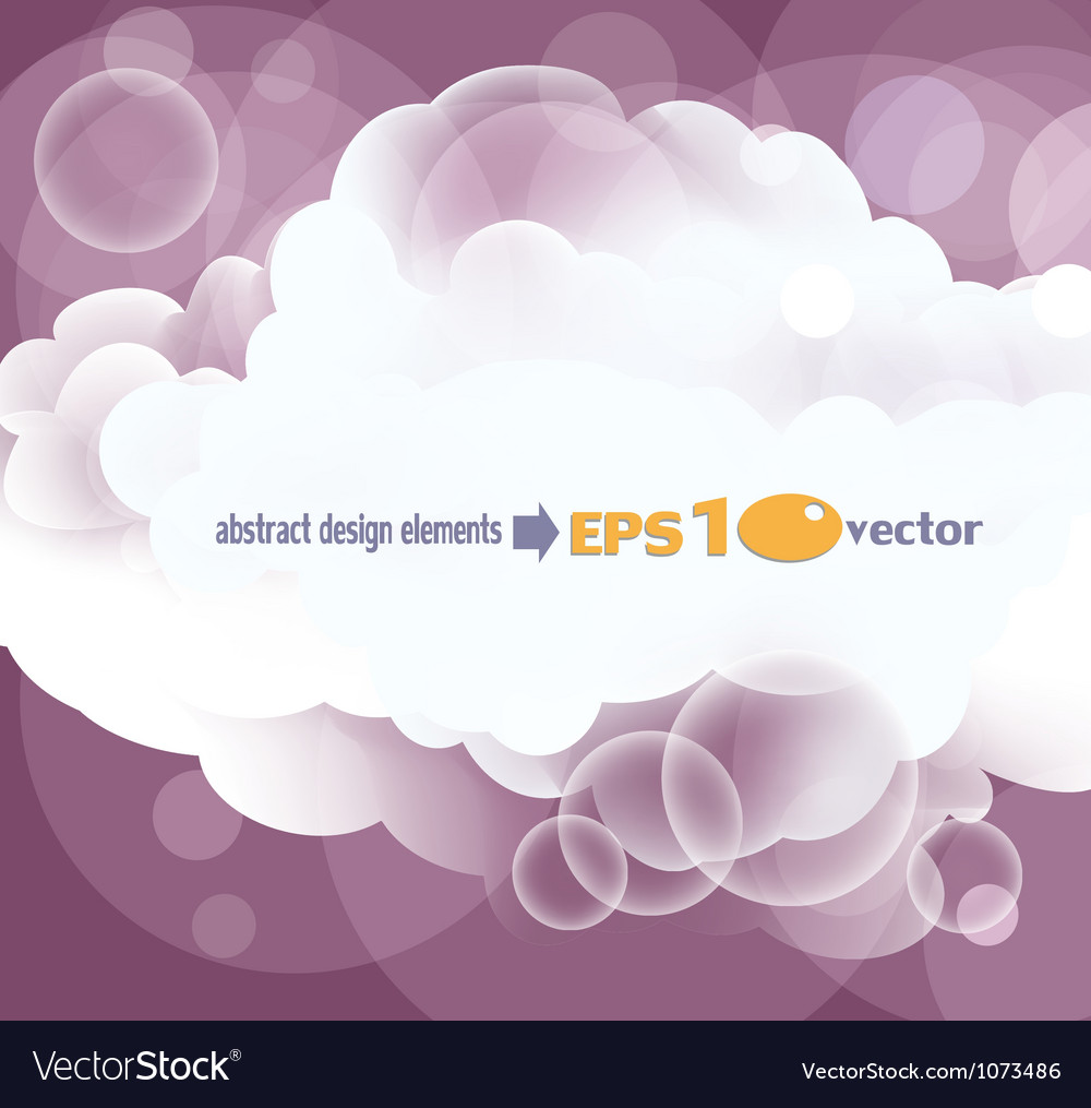 Abstract background with white clouds vector | Price: 1 Credit (USD $1)