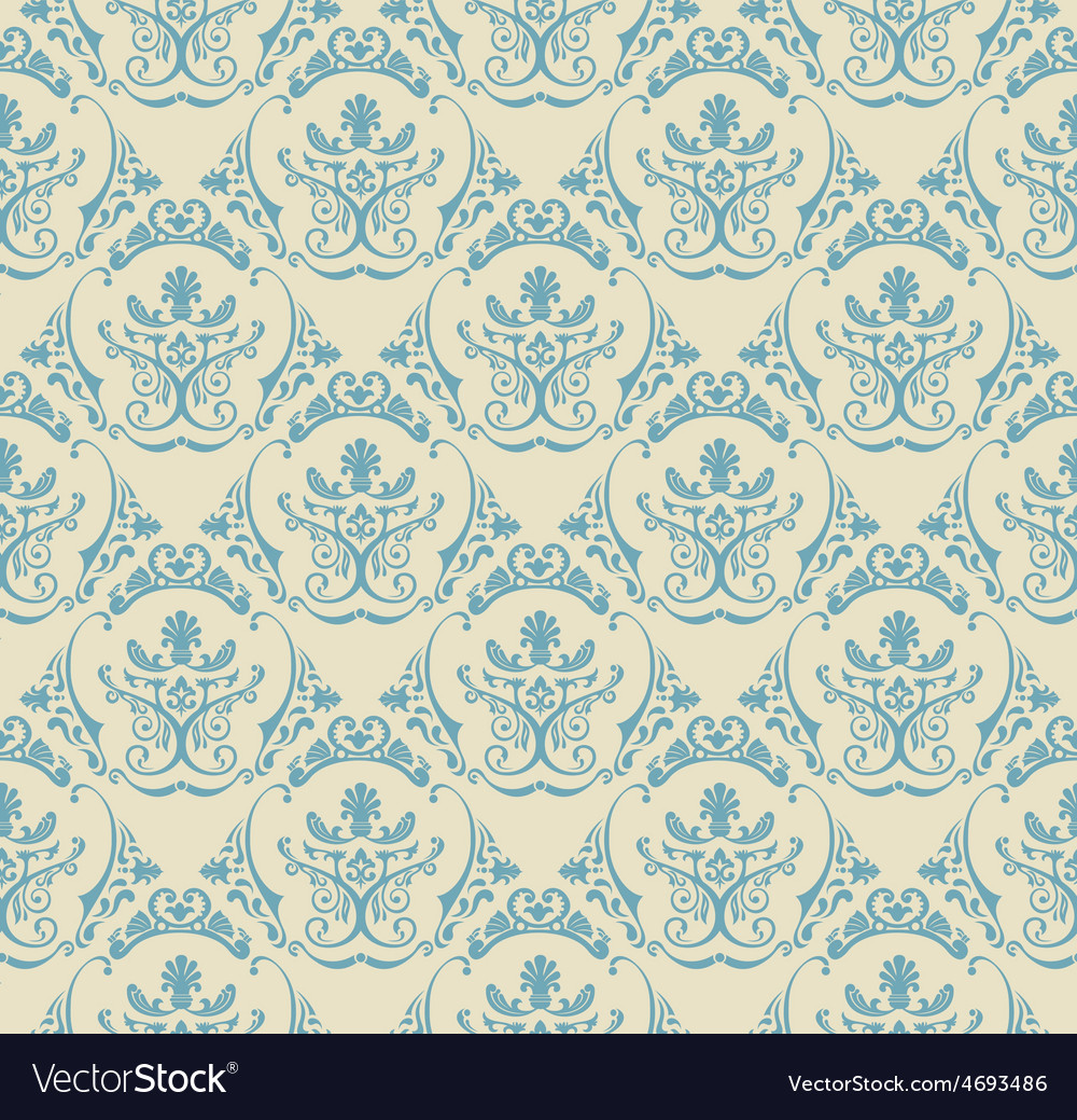 Background vintage seamless wallpaper floral vector | Price: 1 Credit (USD $1)