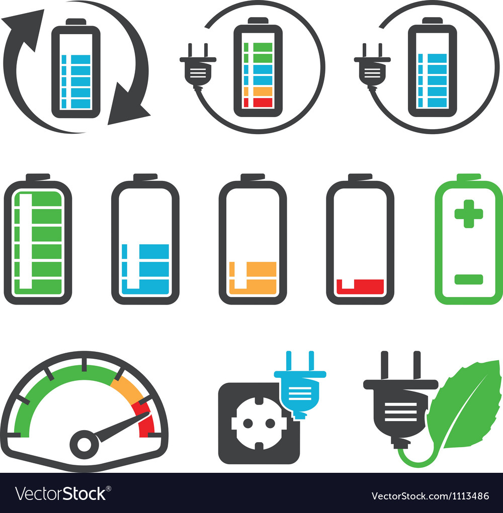 Batteries vector | Price: 1 Credit (USD $1)