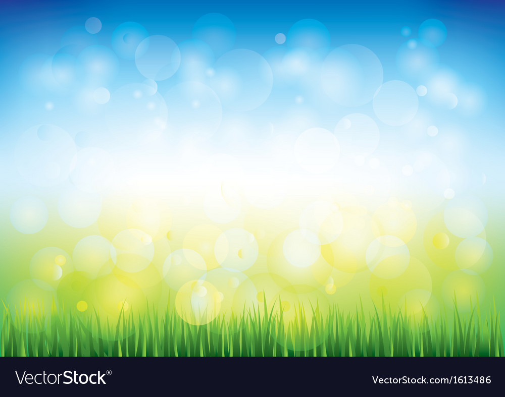 Blue sky grass vector | Price: 1 Credit (USD $1)
