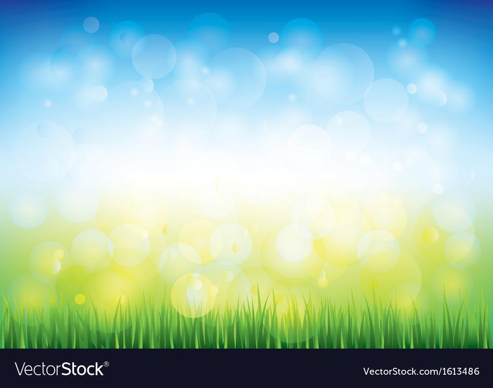 Blue sky grass vector | Price: 1 Credit (USD $1)
