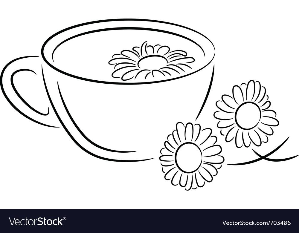 Chamomile tea vector | Price: 1 Credit (USD $1)