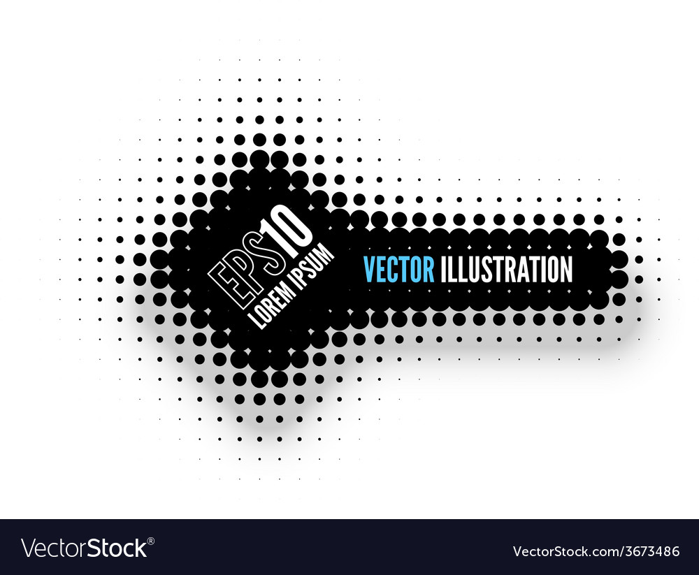 Halftone banner vector | Price: 1 Credit (USD $1)