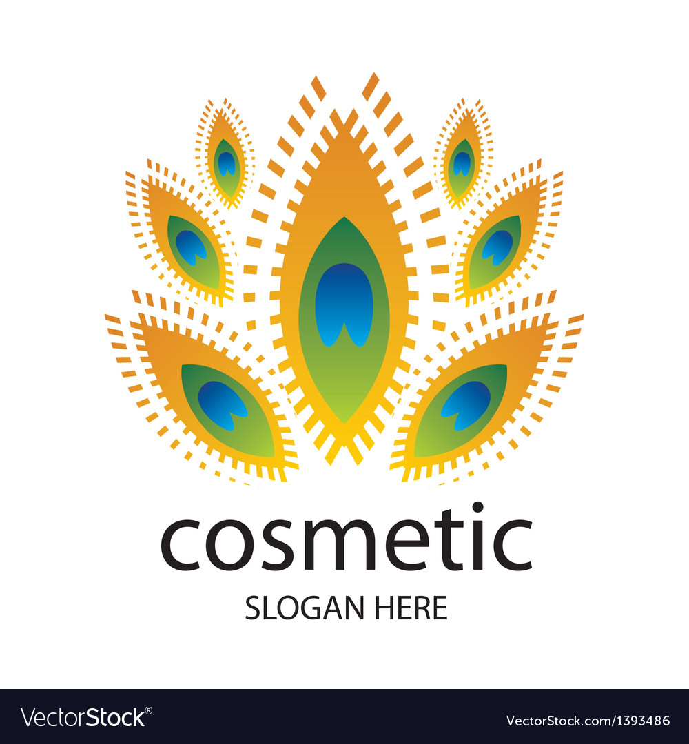 Logo for cosmetics in the form of a peacock vector | Price: 1 Credit (USD $1)