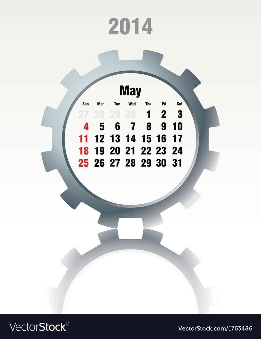 May 2014 - calendar vector   Price: 1 Credit (USD $1)