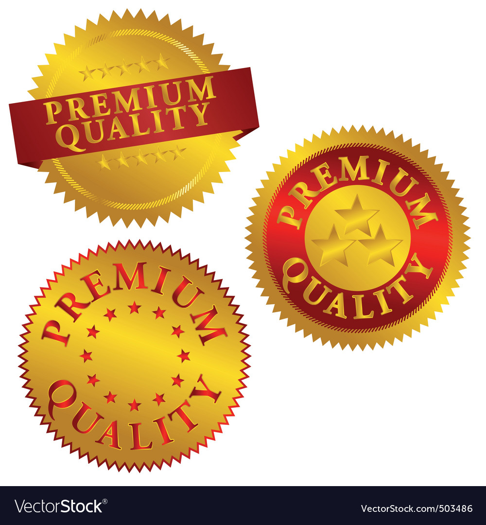 Premium quality seals vector | Price: 1 Credit (USD $1)