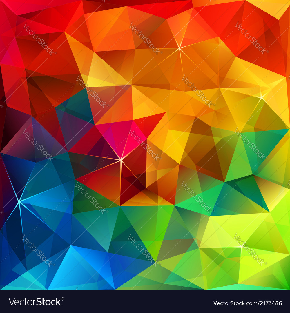 Rainbow colors triangular pattern vector | Price: 1 Credit (USD $1)