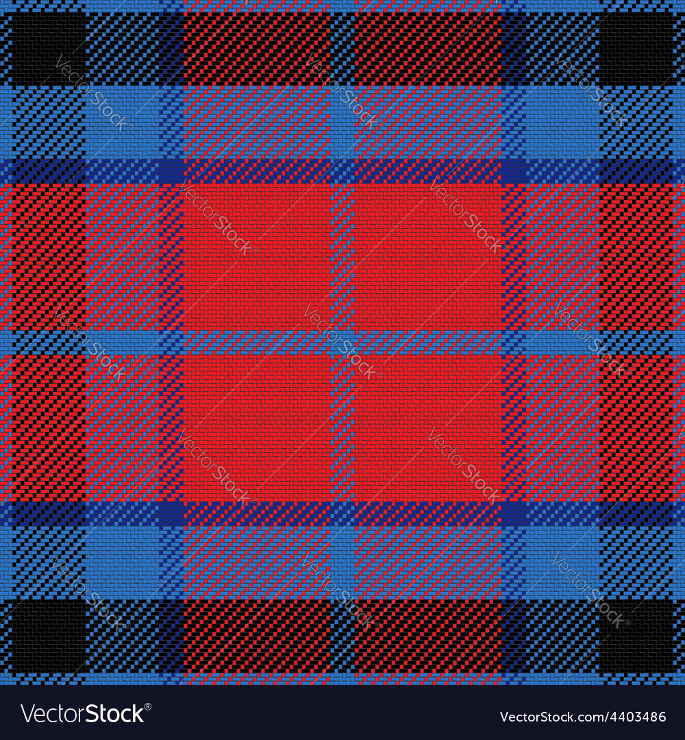 Seamless red and blue scottish tartan vector | Price: 1 Credit (USD $1)