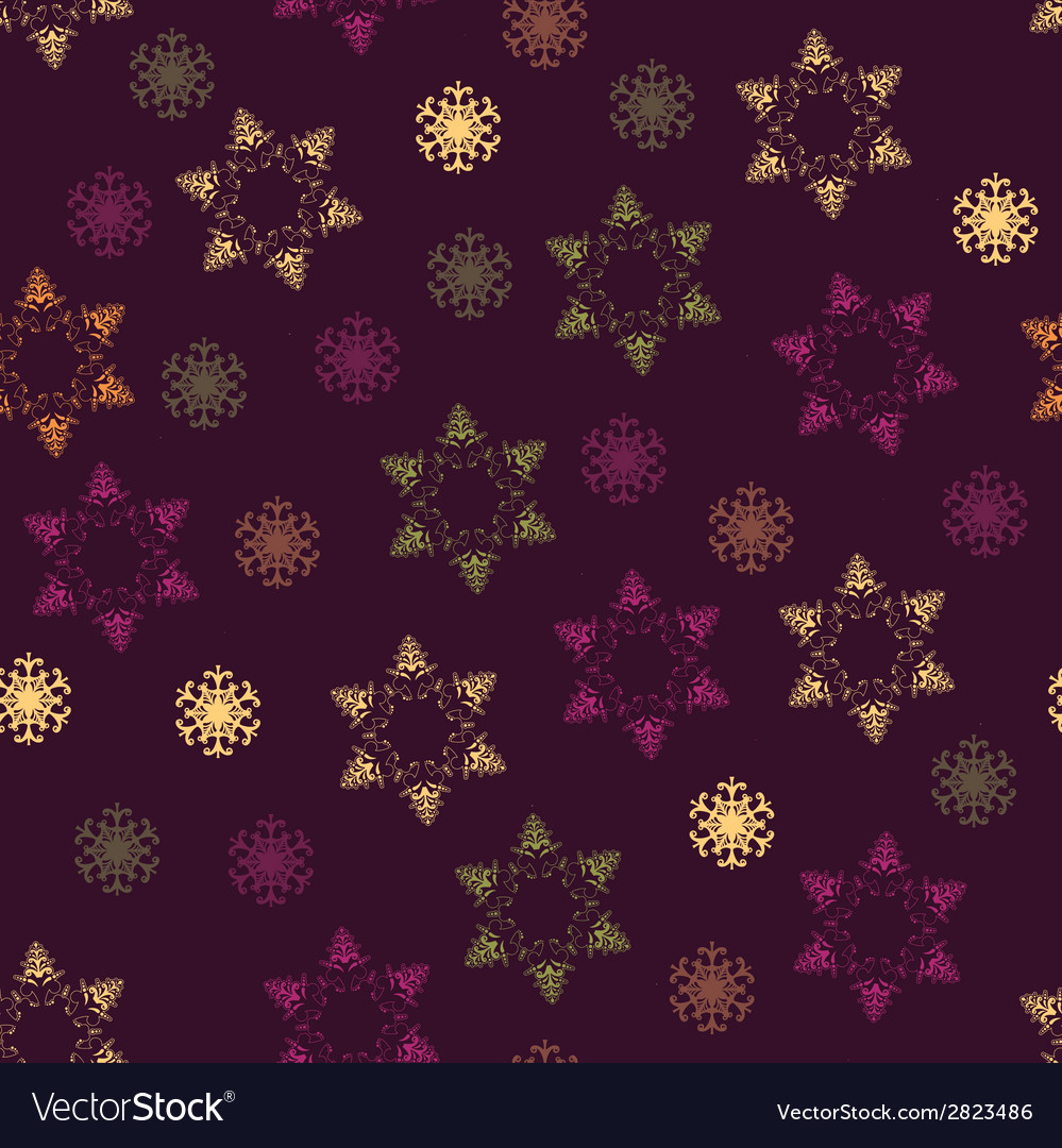 Seamless winter pattern on paper texture vector | Price: 1 Credit (USD $1)