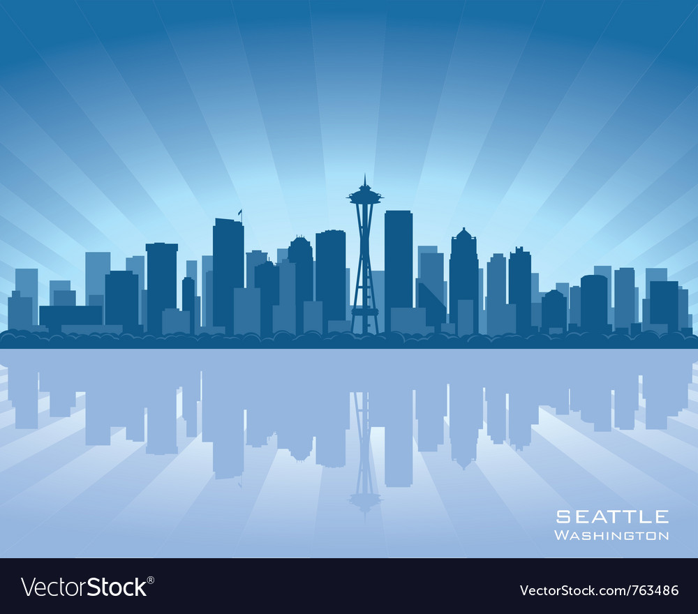 Seattle washington skyline vector | Price: 1 Credit (USD $1)