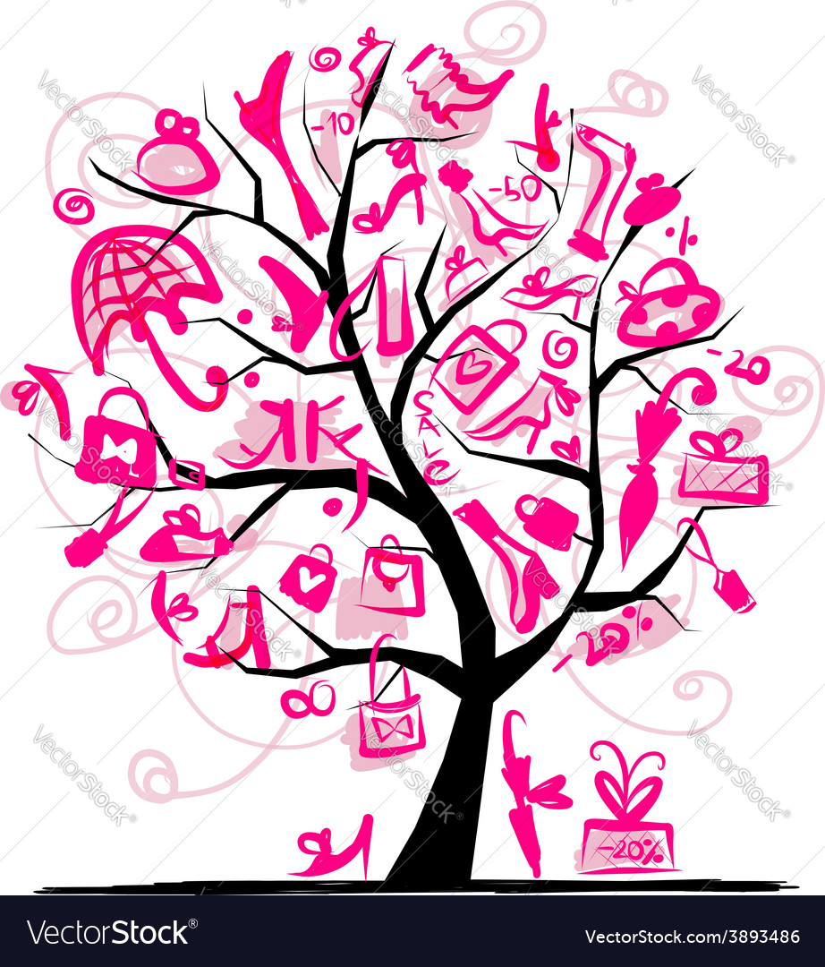 Shopping tree concept for your design vector | Price: 1 Credit (USD $1)