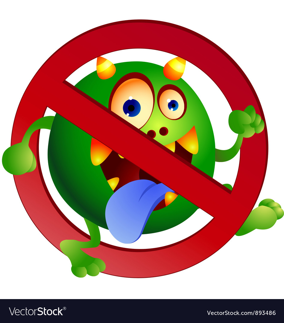 Stop germ vector | Price: 3 Credit (USD $3)