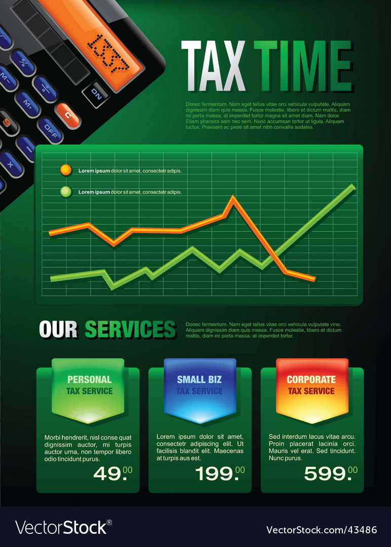 Tax services brochure vector | Price: 3 Credit (USD $3)