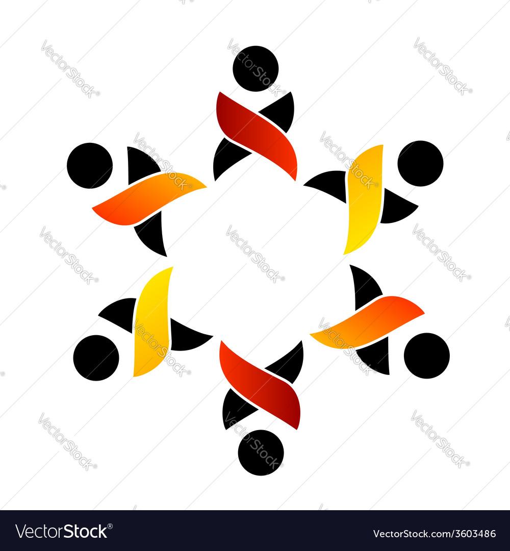 Teamwork support logo or design element vector | Price: 1 Credit (USD $1)