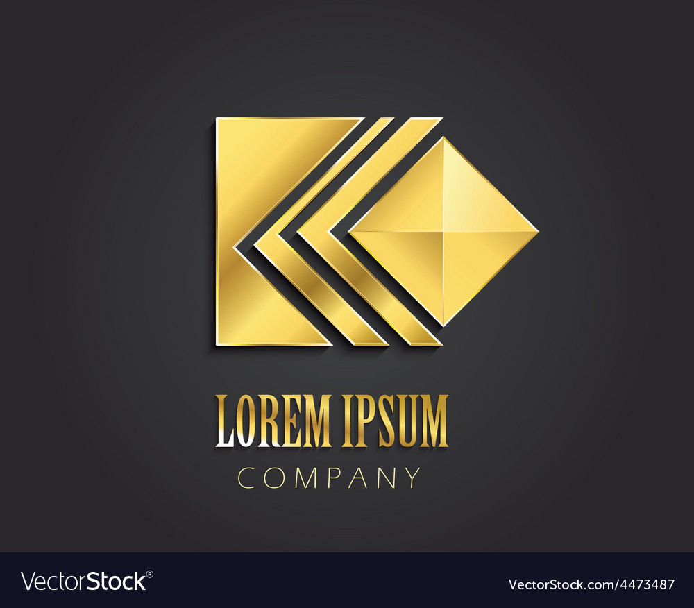 Abstract golden symbol with square for your compan vector | Price: 1 Credit (USD $1)