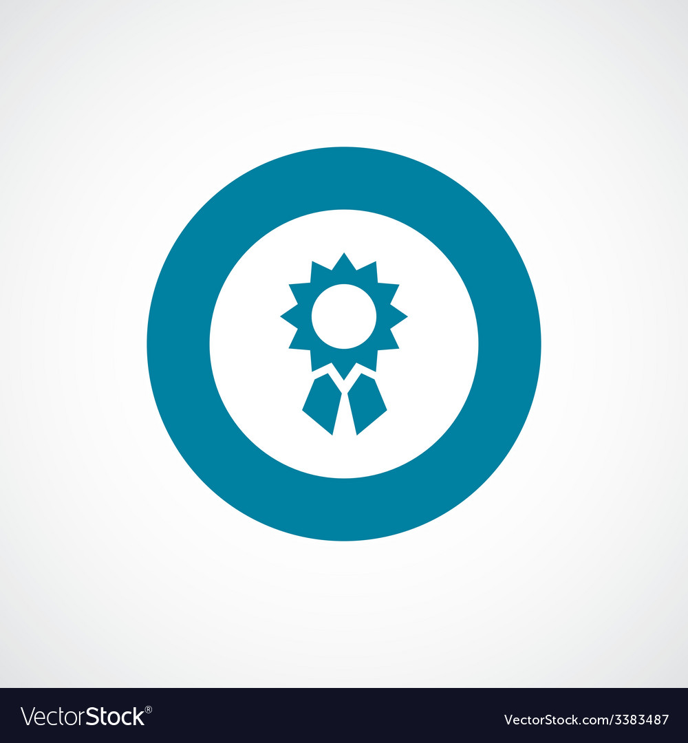 Achievement bold blue border circle icon vector | Price: 1 Credit (USD $1)