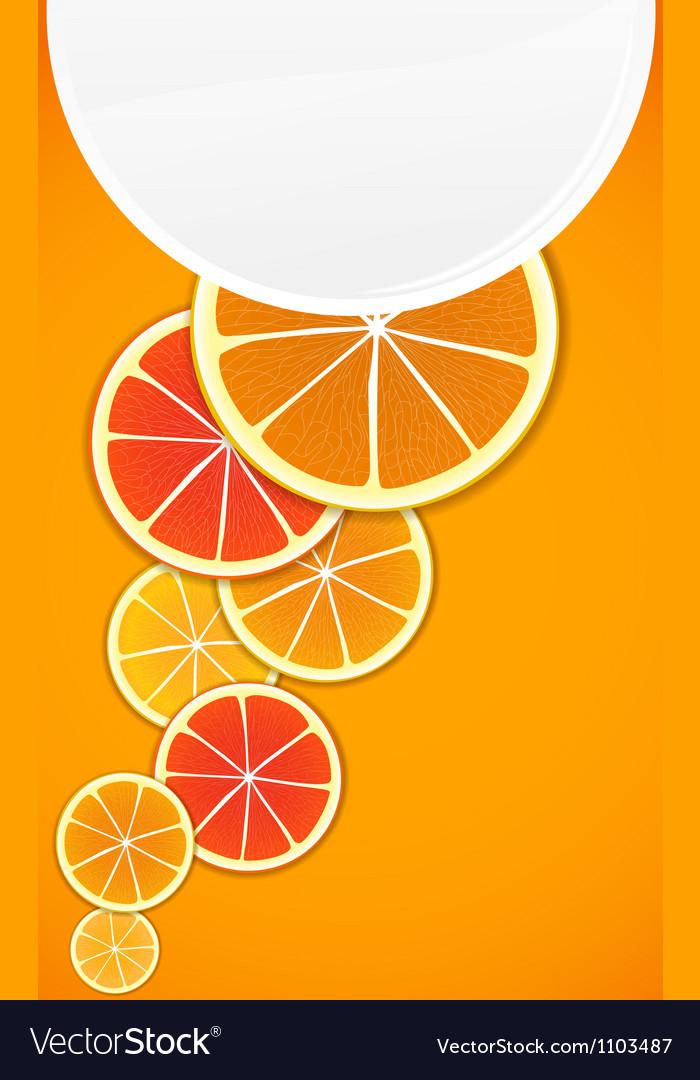 Citrus background vector   Price: 1 Credit (USD $1)