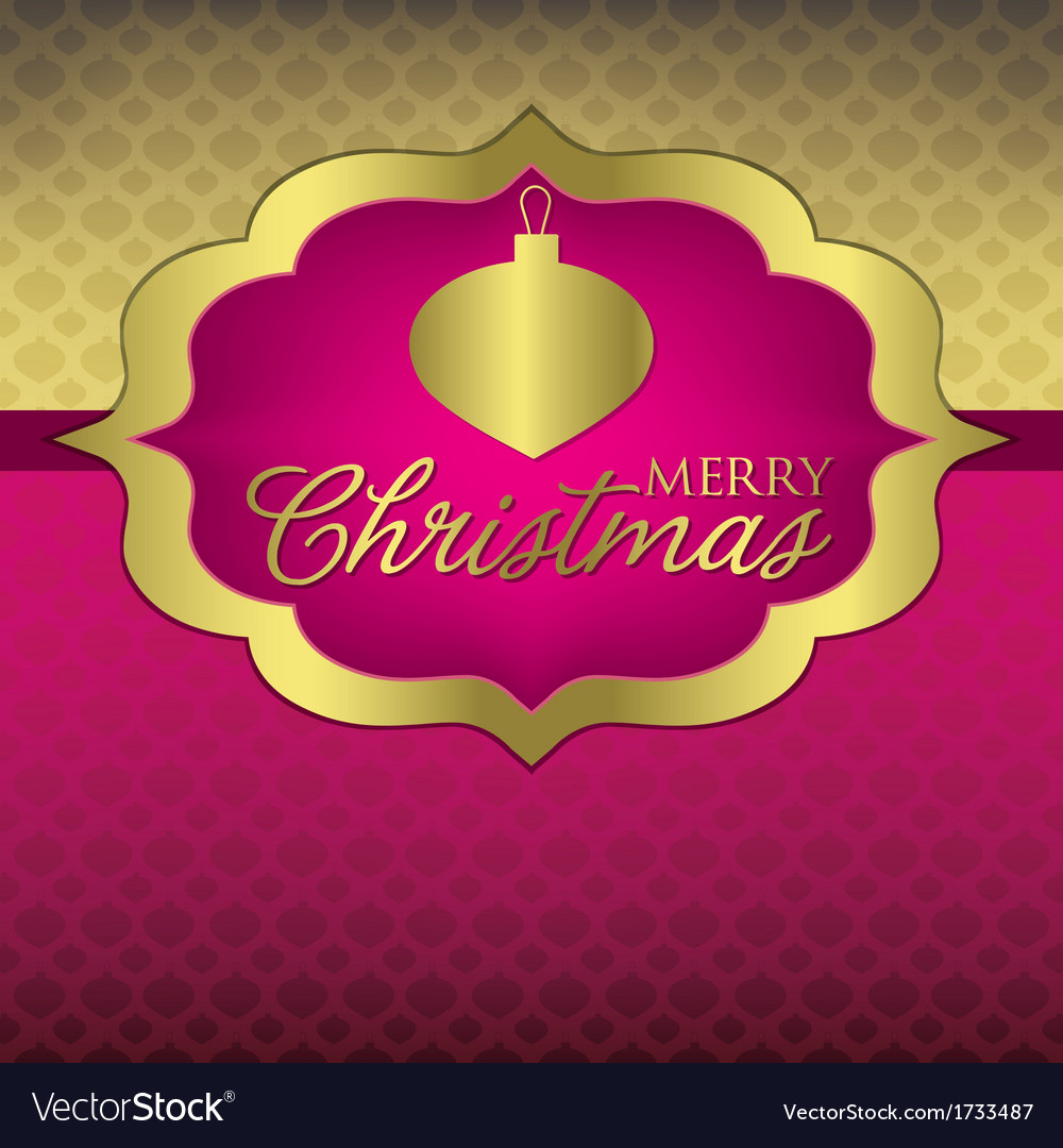 Elegant label christmas card in format vector | Price: 1 Credit (USD $1)