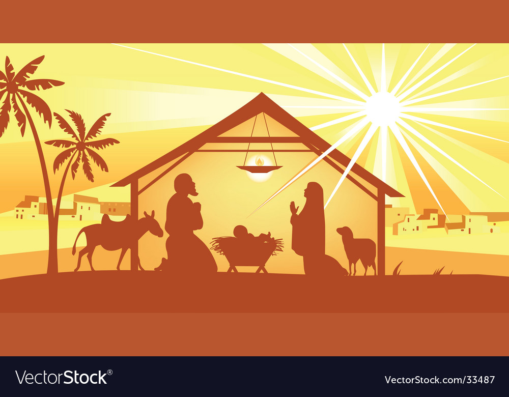 Holy night way to bethlehem vector | Price: 1 Credit (USD $1)