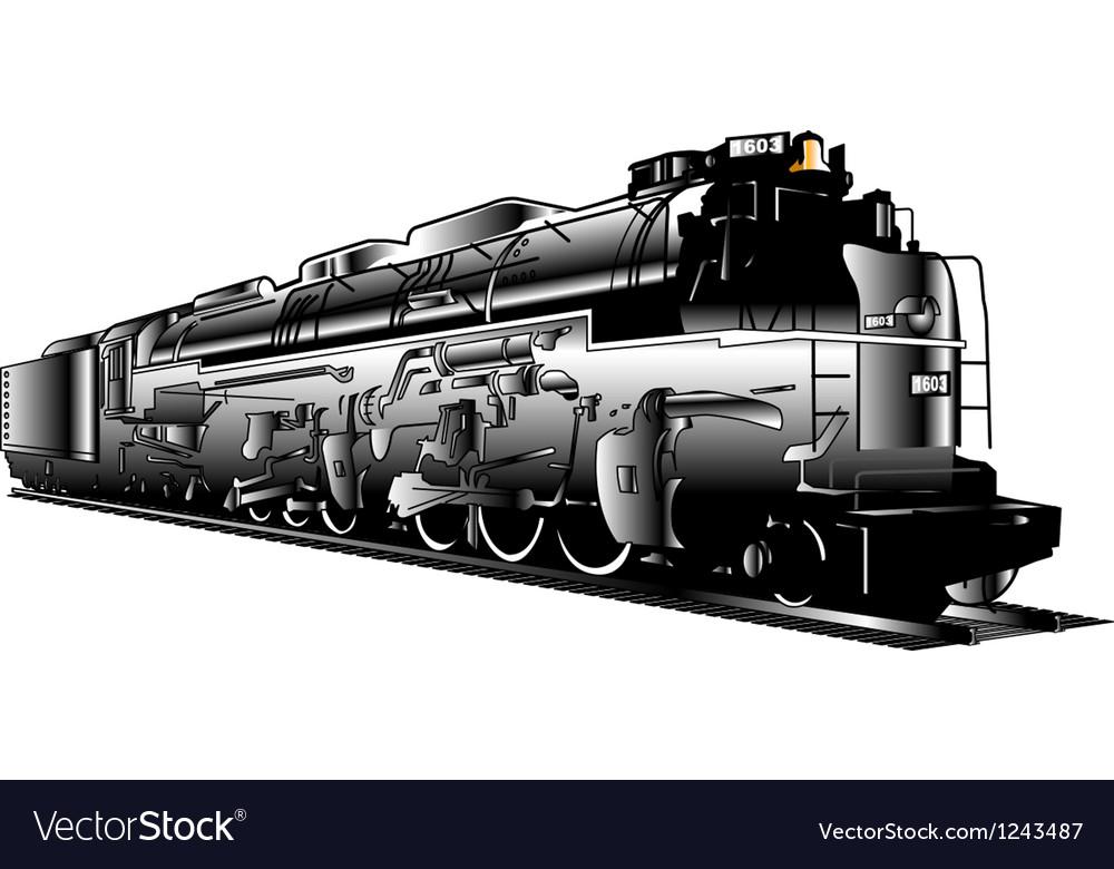 Industrial steam train vector | Price: 1 Credit (USD $1)