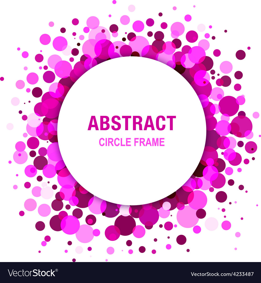 Purple abstract circle frame design element vector | Price: 1 Credit (USD $1)