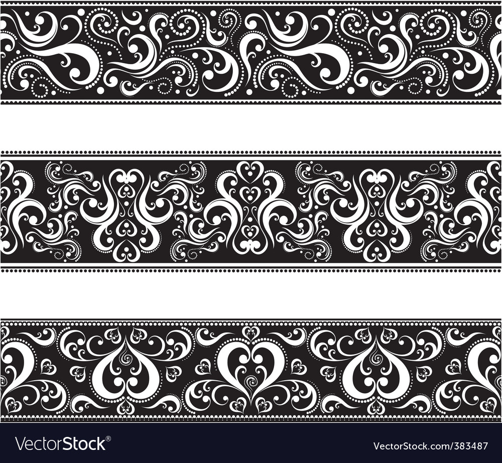 Retro revival borders vector | Price: 3 Credit (USD $3)
