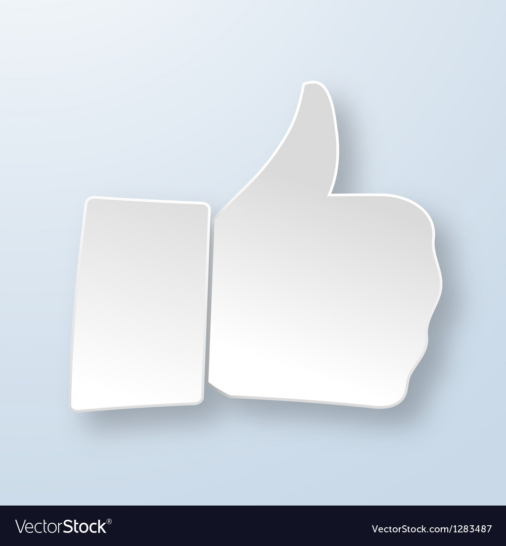 Thumbs up paper sign vector | Price: 1 Credit (USD $1)