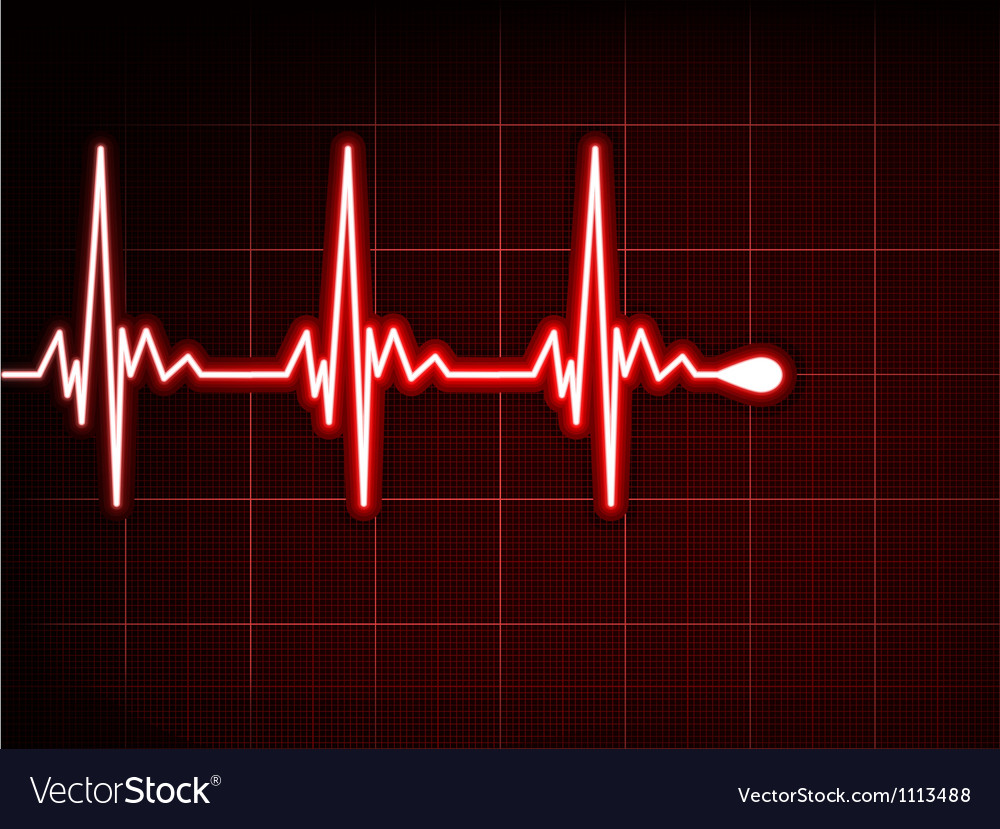 Abstract heart beats cardiogram eps 8 vector | Price: 1 Credit (USD $1)