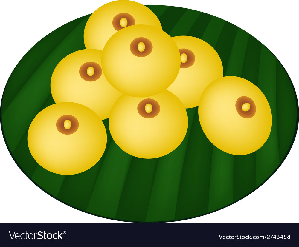 Charming moon or rice flour dumplings vector | Price: 1 Credit (USD $1)