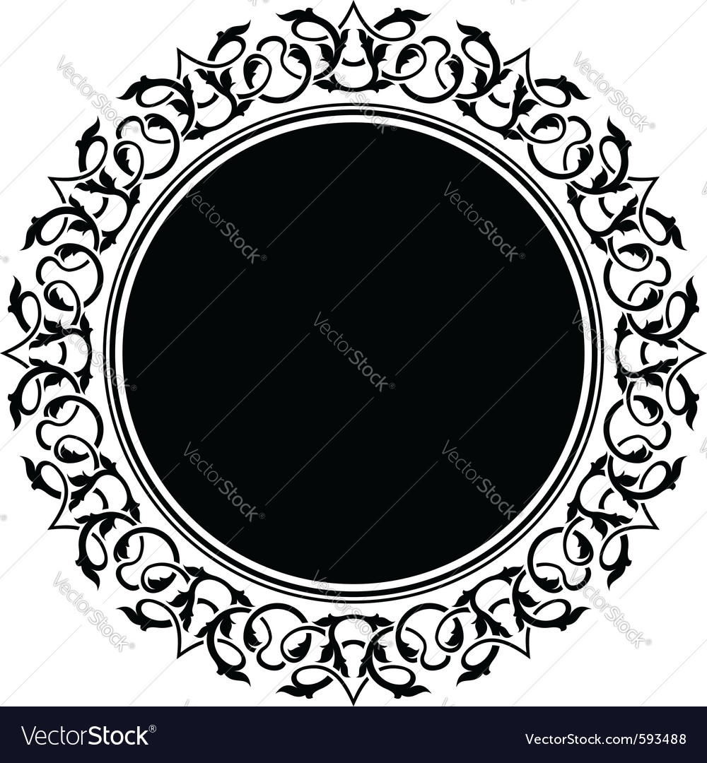 Circle frame vector | Price: 1 Credit (USD $1)