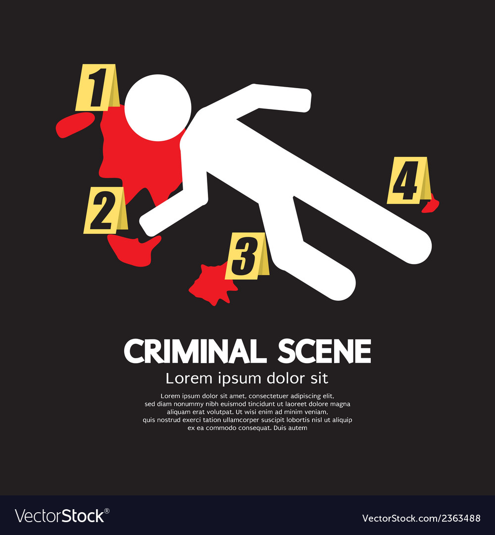 Criminal scene vector | Price: 1 Credit (USD $1)