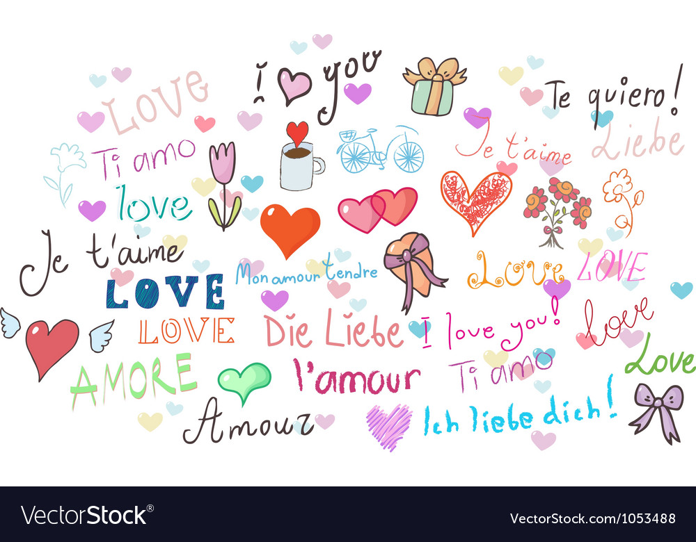 I love you set vector | Price: 1 Credit (USD $1)