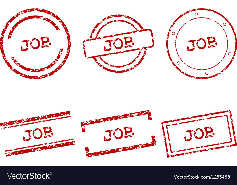 Job stamps vector | Price: 1 Credit (USD $1)
