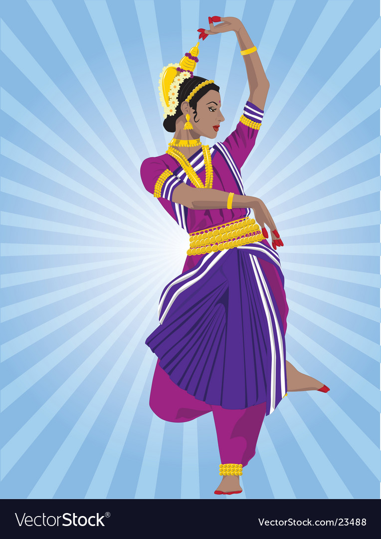 Odissi dancer vector | Price: 5 Credit (USD $5)