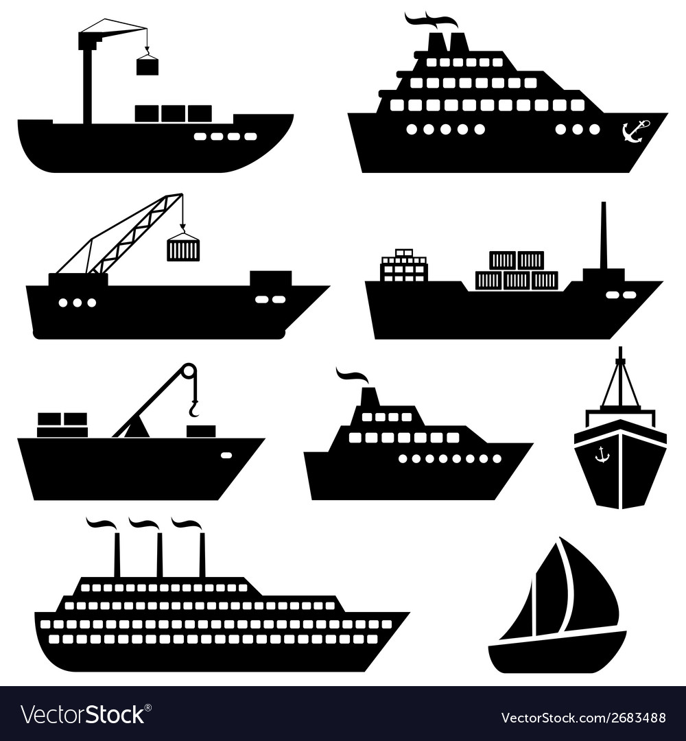 Ship and boat icons vector | Price: 1 Credit (USD $1)