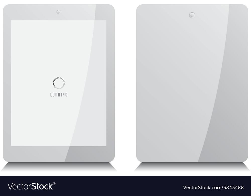 Tablet gadget multimedia vector | Price: 1 Credit (USD $1)