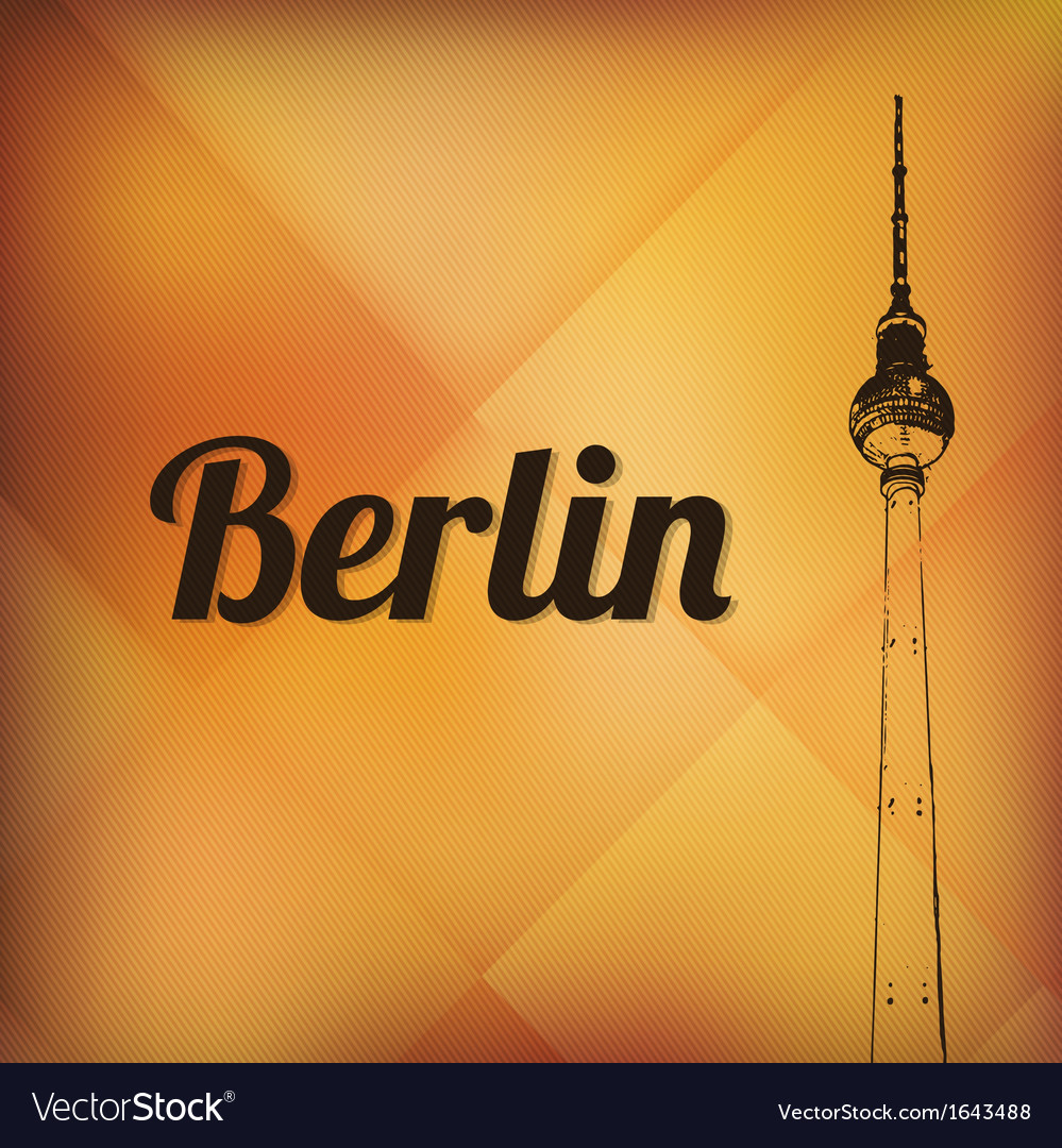 Television tower in berlin vector | Price: 1 Credit (USD $1)
