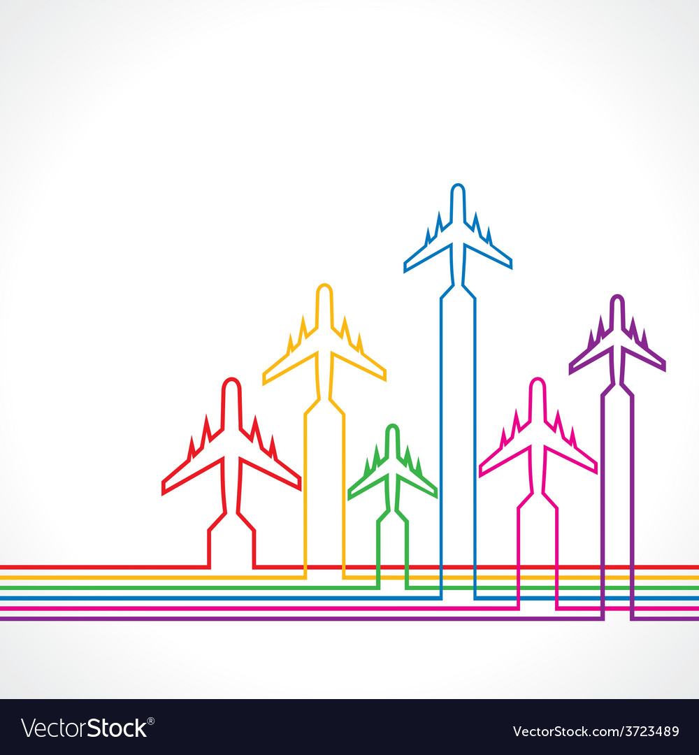 Abstract background with airplane vector | Price: 1 Credit (USD $1)