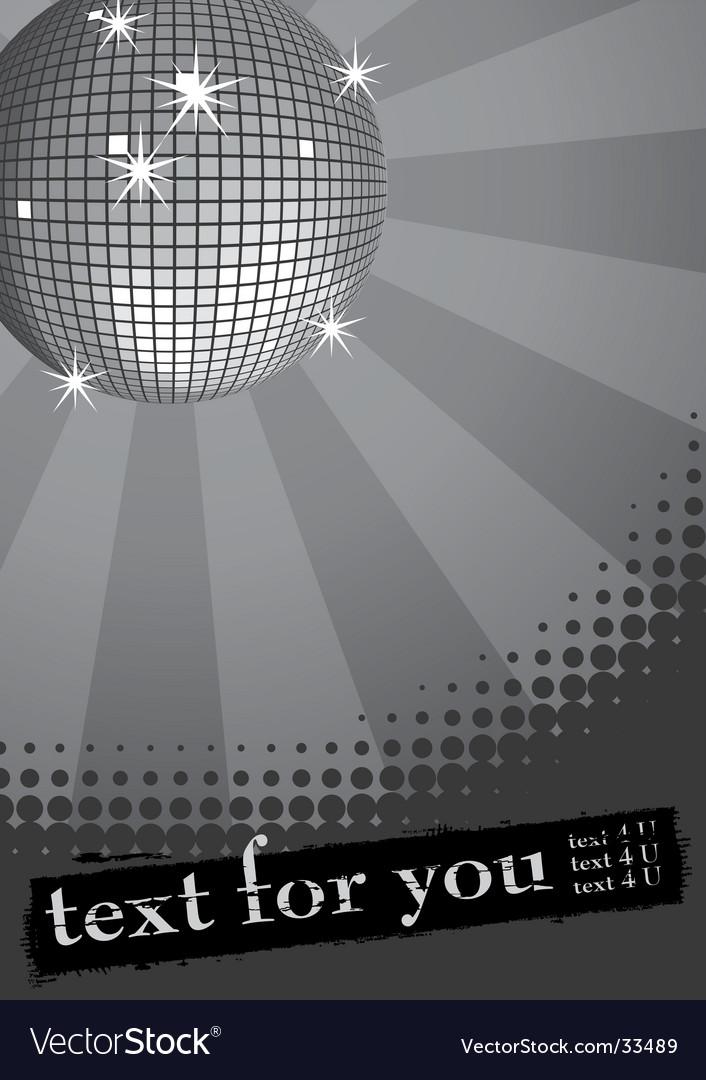 Disco ball banner vector | Price: 1 Credit (USD $1)