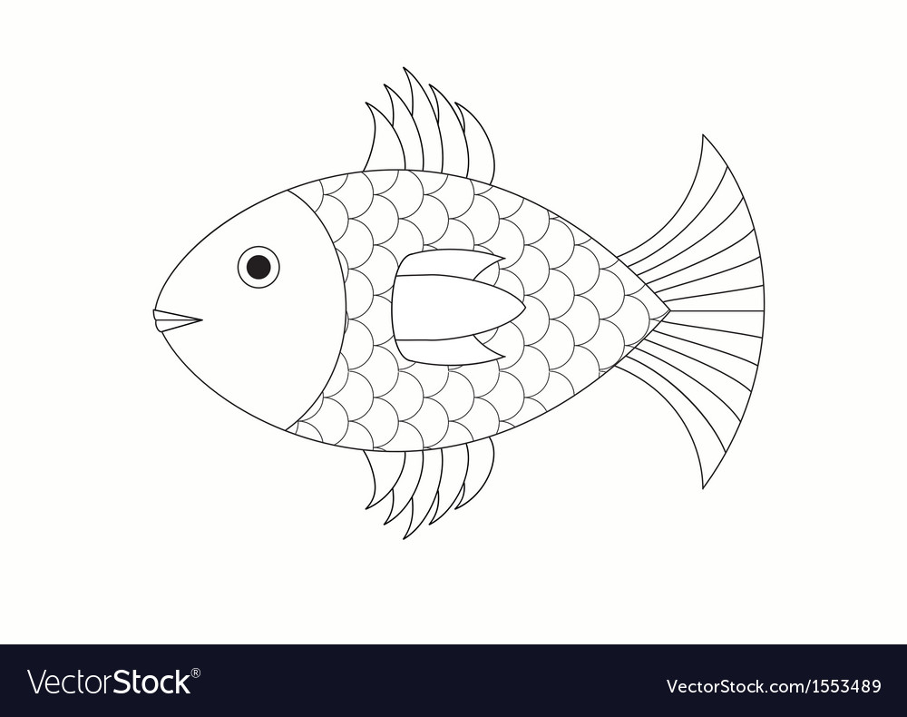Drawing of fish vector | Price: 1 Credit (USD $1)
