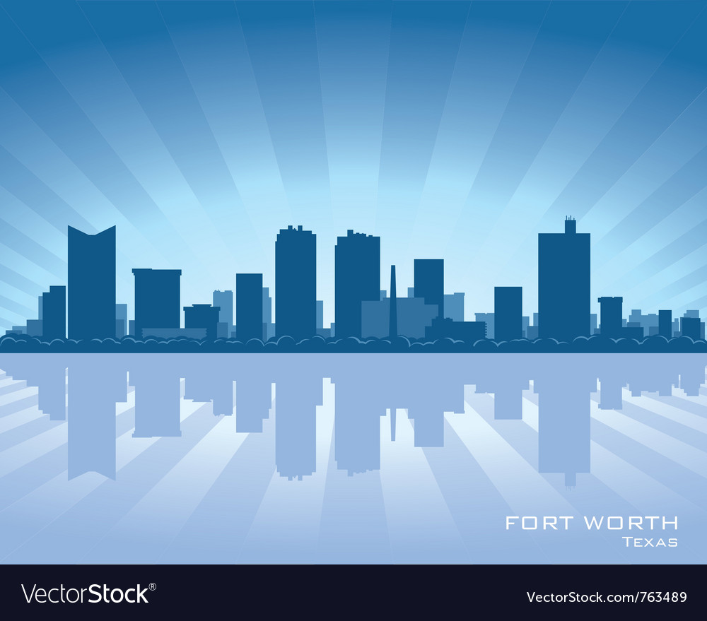 Fort worth texas skyline vector | Price: 1 Credit (USD $1)
