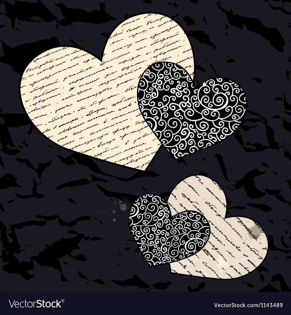 Heart set love background vector | Price: 1 Credit (USD $1)