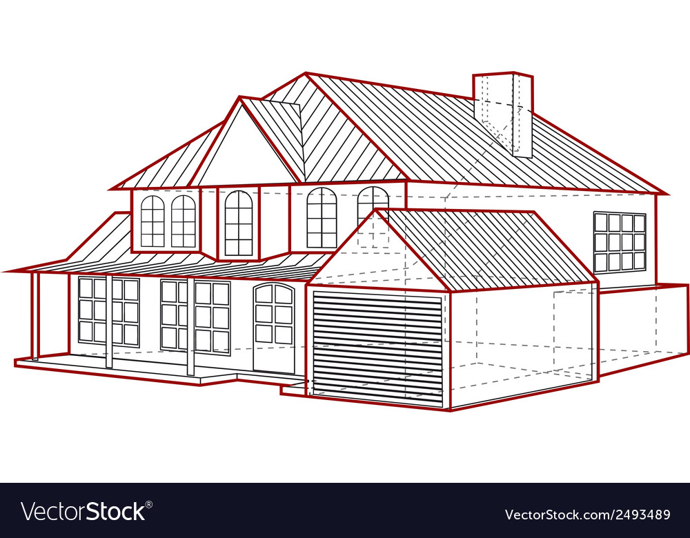 House plan vector | Price: 1 Credit (USD $1)