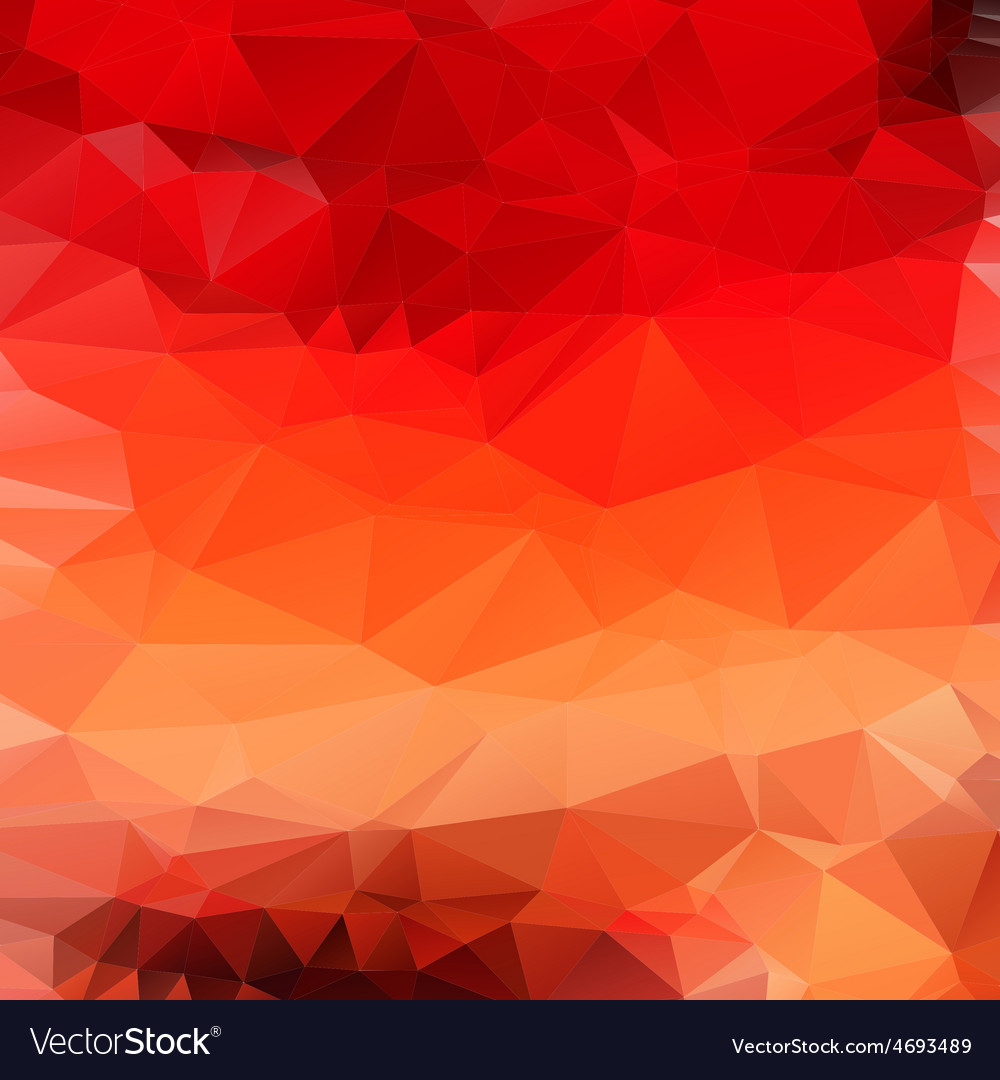 Light orange red abstract polygonal background vector